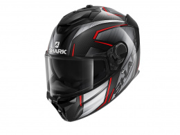 SHARK SPARTAN GT CARBON KROMIUM CHROM RED