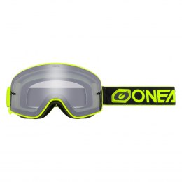 B-50 Gogle FORCE black/neon yellow - silver mirror