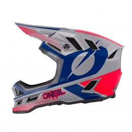 O'NEAL BLADE Polyacrylite Kask ACE gray/blue/red