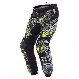 O'NEAL ELEMENT Spodnie ATTACK black/neon yellow
