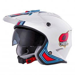 VOLT Kask MN1 white/red/blue