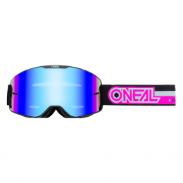 B-20 Gogle PROXY black/pink - radium blue